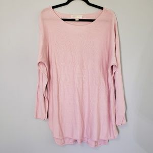 Michael Kors Long Sleeve Pink Sweater - LARGE